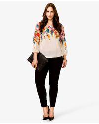 Forever 21 - Multicolor Floral Print Bubble Top - Lyst