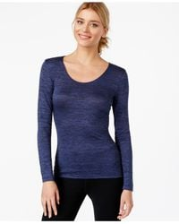 32 Degrees | Blue Space-dyed Scoop Neck Baselayer Top | Lyst