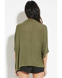 Forever 21 - Green Drapey Surplice Top - Lyst
