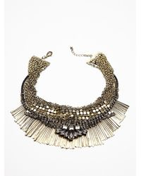 Free People Metallic Royal Mesh Collar