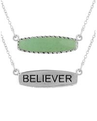 Lord & Taylor - Green Amazonite And Sterling Silver Believer Pendant Necklace - Lyst