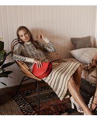Tory Burch - Natural Jacquard Sweater Skirt - Lyst