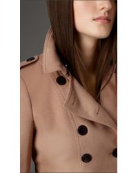 Burberry - Brown Virgin Wool Cashmere Coat With Fox Fur Collar - Lyst