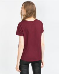 Zara | Purple Geometric Design T-shirt | Lyst