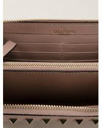 Valentino | Natural 'Rockstud' Wallet | Lyst