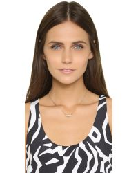 Alexis Bittar - Metallic Jagged Marquis Charm Necklace - Gold Multi - Lyst