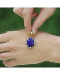 Sylva & Cie Blue Intaglio Scarab Pendant