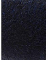 'S Max Mara Blue Susanna Fur Cuffs