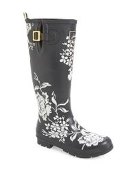 Joules Multicolor 'welly' Print Rain Boot