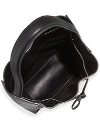 3.1 Phillip Lim Purple Soleil Large Leather Drawstring Bucket Bag