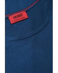HUGO - Blue Fine Knit Sweater By In Cotton Blend With Silk And Cashmere: 'sabinus' for Men - Lyst