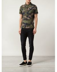 Valentino | Green Camouflage Polo Shirt for Men | Lyst
