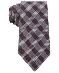 Calvin Klein - Red Schoolboy Glenplaid Slim Tie for Men - Lyst