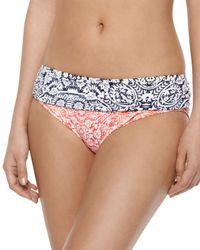 Tommy Bahama - Blue Floral-print Underwire Swim Top & Ruched-side Swim Bottom - Lyst