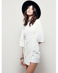 Free People - White Womens Hudson Valley Dress - Lyst