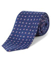 Jaeger Blue Flower Dot Tie for men