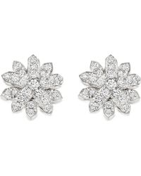 Astley Clarke | Metallic Starburst 18-carat White Gold And Diamond Stud Earrings | Lyst
