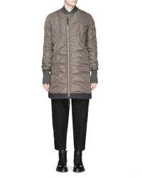 Ziggy Chen - Green Cotton Hem Long Bomber Jacket for Men - Lyst