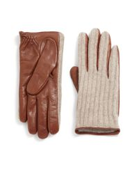 Saks Fifth Avenue | Purple Cashmere-lined Leather & Wool Gloves | Lyst