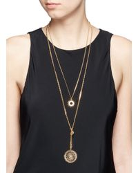 Chloé - Metallic 'isaure' Two Tier Pendant Necklace - Lyst