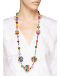 Erickson Beamon | Multicolor ''kumbaya' Ball Charm Bead Necklace | Lyst