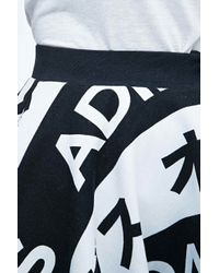 Adidas Typo Skirt In Black And White