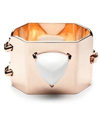 Eddie Borgo | Pink Rose Gold Pyramid Cuff | Lyst