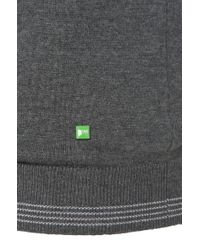 BOSS Green - Gray Sweater In Cotton Blend: 'rime_fw15' for Men - Lyst