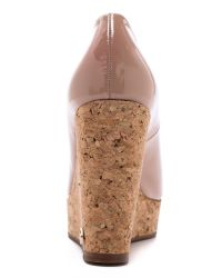 Kurt Geiger Natural Capella Cork Wedges - Nude