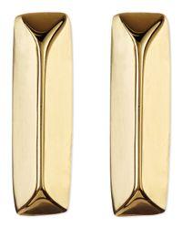 Elizabeth and James - Metallic Rohe Bar Stud Earrings - Lyst
