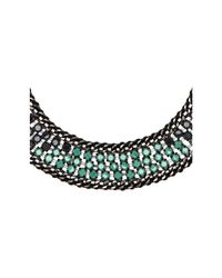 BCBGMAXAZRIA | Blue Ombre Stone Statement Necklace | Lyst