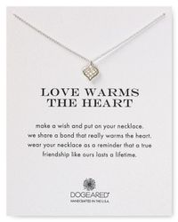 """Dogeared - Metallic Love Warms The Heart Necklace, 18"""" - Lyst"""
