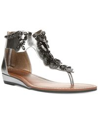 Carlos By Carlos Santana | Metallic Terese Gem Sandals | Lyst
