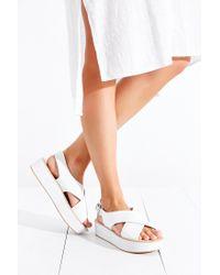Dolce Vita - White Ziggie Platform Sandal - Lyst