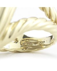 David Yurman - Metallic Pre-Owned: Vintage Oval Smoky Quartz Cocktail Ring In 18Ky - Lyst