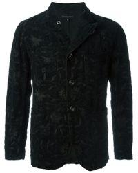 Engineered Garments Black Floral Corduroy Jacket for men