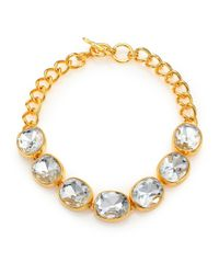 Kenneth Jay Lane | Metallic Jeweled Necklace | Lyst