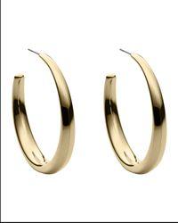 Michael Kors - Gray Hoop Earrings - Lyst