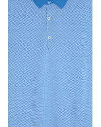 John Smedley - Blue Horst Pattern Polo Shirt for Men - Lyst