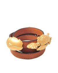 Valentino Brown Gryphon Beetle Bracelet