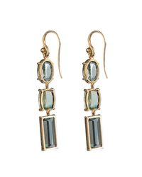 Irene Neuwirth - Green Diamond, Tourmaline & Yellow-Gold Earrings - Lyst