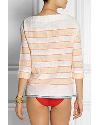 lemlem - Orange Bara Striped Cotton-blend Top - Lyst