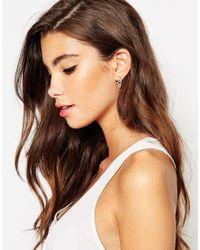 ASOS | Metallic Sterling Silver Open Triangle Swing Earrings | Lyst