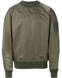 Juun.J - Green Bomber-style Sweatshirt for Men - Lyst