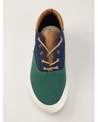 Veja   Green Panelled Midtop Sneakers for Men   Lyst