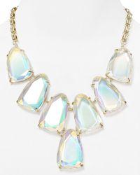 Kendra Scott Blue Harlow Iridescent Necklace 18
