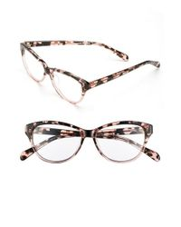 Corinne Mccormack - Pink 'jenna' 50mm Reading Glasses - Lyst