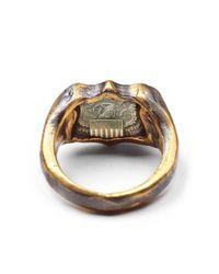Lulu Frost | Metallic George Frost Bullet Shield Ring Brass for Men | Lyst