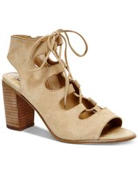Steve Madden | Natural Women's Nilunda Lace-up Sandals | Lyst