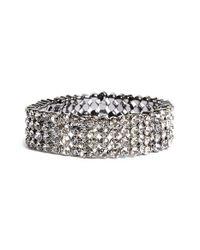 Tasha | Metallic Jeweled Stretch Bracelet | Lyst